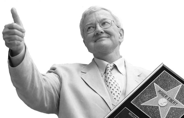 Roger Ebert giving Thumbs up